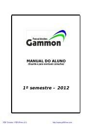 1º semestre – 2012 - Fundação Gammon de Ensino