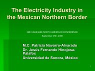 The electric industry in the Mexican northern border - United States ...