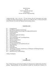 Studienordnung für das Fach Evangelische Theologie im ... - ZSB
