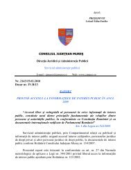 Raport privind accesul la informaţiile de interes public - Consiliul ...