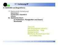 17. Vorlesung EP