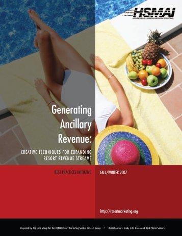 Generating Ancillary Revenue: Creative Techniques for ... - hsmai