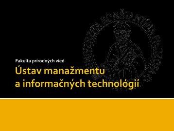 Profil UMIT - Fakulta prírodných vied