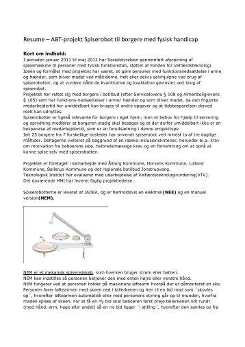 Læs resume af velfærdsteknologivurdering (pdf) - Socialstyrelsen