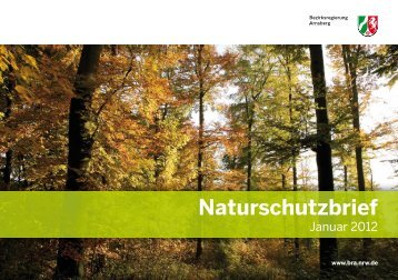 Naturschutzbrief 2012.indd - Bezirksregierung Arnsberg