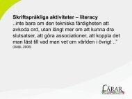 Skriftspråkliga aktiviteter – literacy