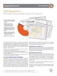 GSG StudioView™ - Spectracom