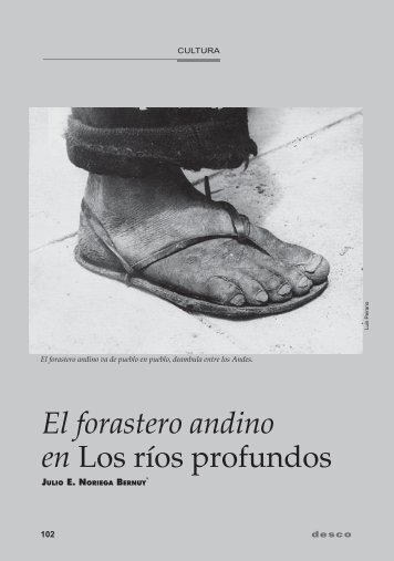 El forastero andino en Los ríos profundos - Desco