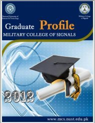 Graduate Profiles 2012 - National University of Science and ...