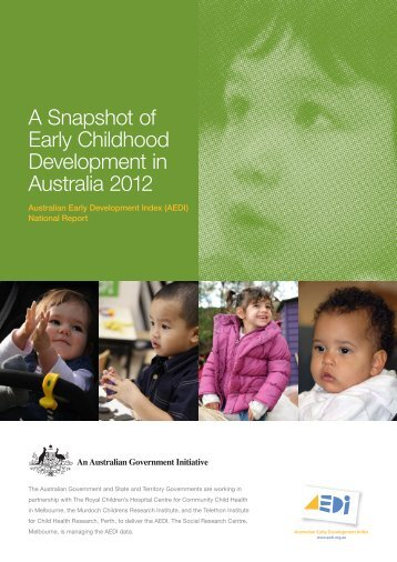 A Snapshot of Early Childhood Development in Australia 2012