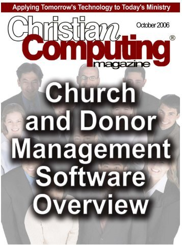 CCMag's Annual Church and Donor Management Software Overview!