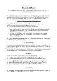 Richtlinien zur schulischen Nachmittagsbetreuung VS St.Lorenzen