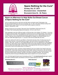 Spare Nothing for the Cure® - St. Louis