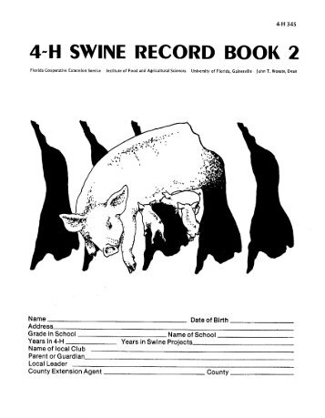 4~H SWINE RECORD BOOK 2 - Volusia County Government