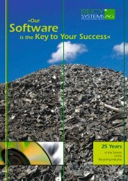 Our Software - Recy Systems AG