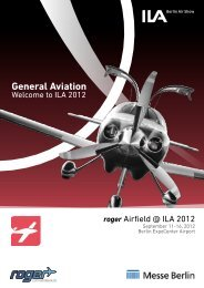 General Aviation auf der ILA 2012 - roger AIRFIELD