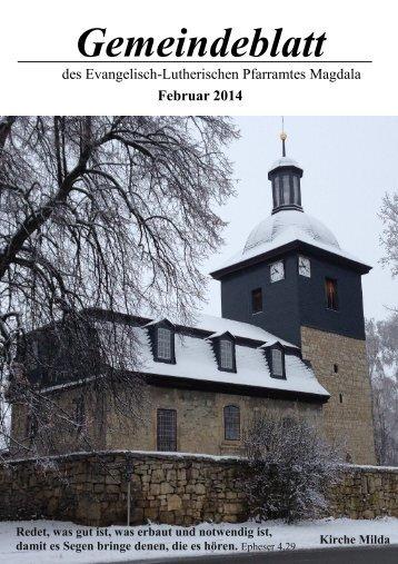Februar 2014 - Evangelisch-Lutherischer Kirchkreis Jena