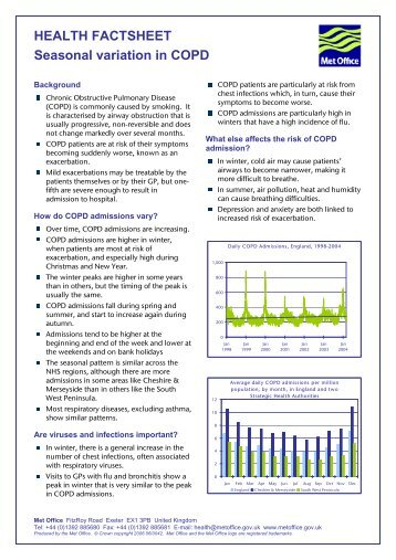 HEALTH FACTSHEET Seasonal variation in COPD - Met Office