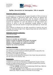 DU contraception règlement des études - Faculté de Médecine de ...
