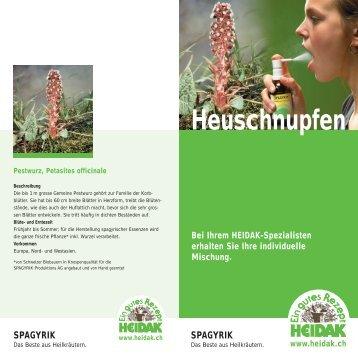 Heuschnupfen - Heidak AG