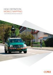 HIGH DEFINITION MOBILE MAPPING - Cowi