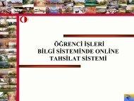 Ögrenci İşleri Bilgi Sisteminde Online Tahsilat Sistemi - Ulakbim