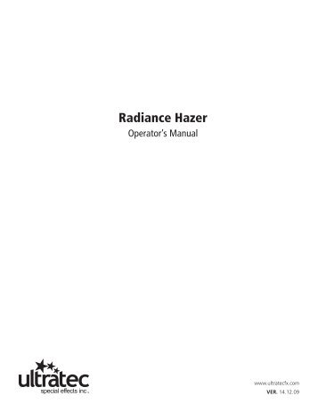 Radiance Hazer - Schell Scenic Studio, Inc.