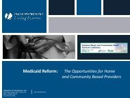 | | Medicaid Reform: The Opportunities for Home and Community ...
