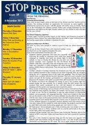 Issue: 39 6 December 2012 - Beaumaris Primary School
