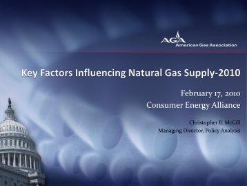 Key Factors Influencing Natural Gas Supply 2010 - Consumer ...