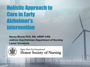 Holistic Approach to Care in Early Alzheimer's intervention - IUPUI