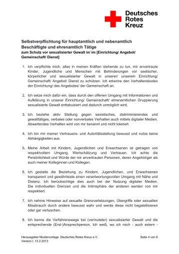 Selbstverpflichtung für hauptamtlich und nebenamtlich ... - JRK-BW.de