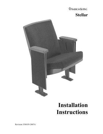 Stellar Installation Instructions - American Seating