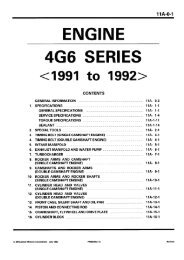 4G6 Series Engine Workshop Manual 91-92 PWEE9037 ... - LIL EVO
