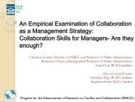 Collaborative Skills for Public Managers - Policy Consensus Initiative