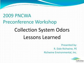 Collection System Odors Lessons Learned - pncwa