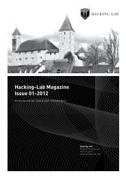 Hacking-Lab Magazine Issue 01-2012