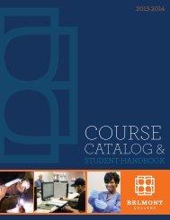 2013-2014 Belmont College Catalog