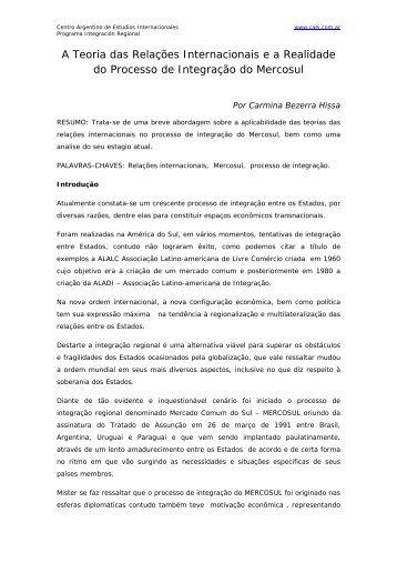 A Teoria das Relações Internacionais e a Realidade do ... - CAEI