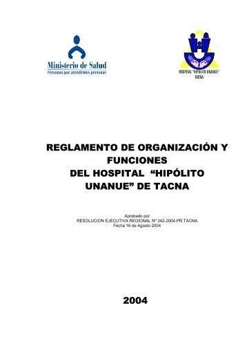 ROF - Hospital Hipolito Unanue - Direccion Regional de Salud Tacna