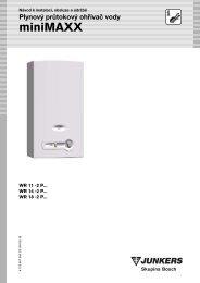 Plynový průtokový ohřívač vody miniMAXX