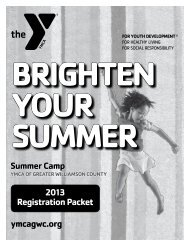 Summer Camp Registration Packet - YMCA of Greater Williamson ...