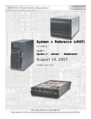 IBM eServer xREF Document - IBM Quicklinks