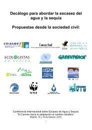 Decálogo para abordar la escasez del agua y la sequía Propuestas ...