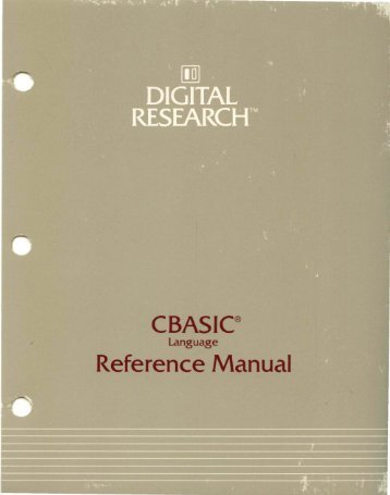 CBASIC® - Bitsavers