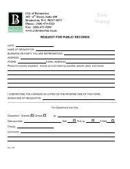 Public Disclosure Request Form - City of Bremerton