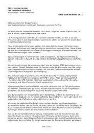Haushaltsrede der FDP-Fraktion - FDP Hövelhof