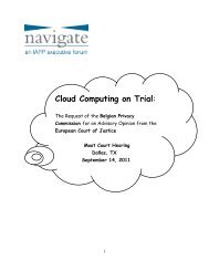 Cloud Computing on Trial - International Association of Privacy ...