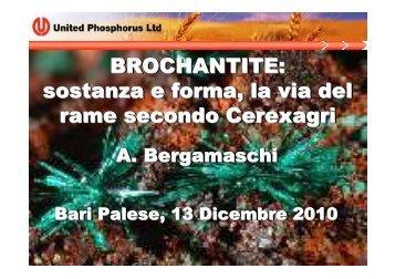 Brochantite,la via del Rame secondo Cerexagri