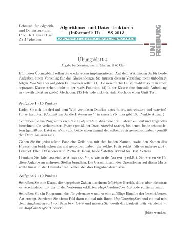 ¨Ubungsblatt 4 - ad-teaching.infor...